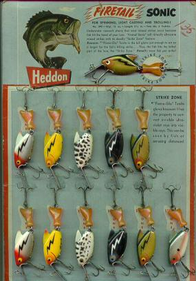 Heddon's Firetail Sonic Dealer Display Card